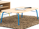 Sohvapöytä ASHBURN COFFEE TABLE OAK-BLUE 125x65 cm WO-112879