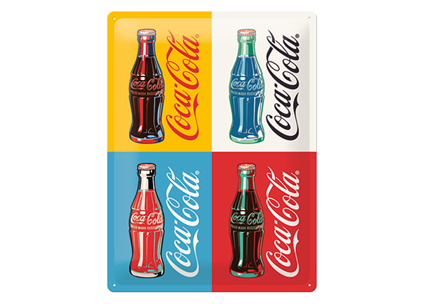 Retro metallijuliste COCA-COLA POP ART 4 PULLOA 30x40cm SG-132746