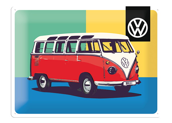 Retrotyylinen metallijuliste VW BULLI POP ART 30x40 cm SG-132749
