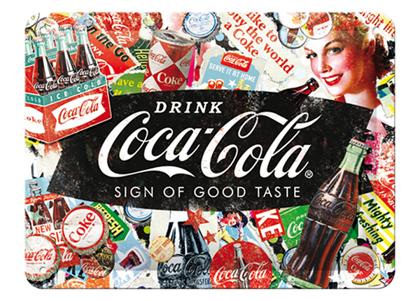 Retro metallijuliste COCA-COLA COLLAGE 15x20cm SG-133796