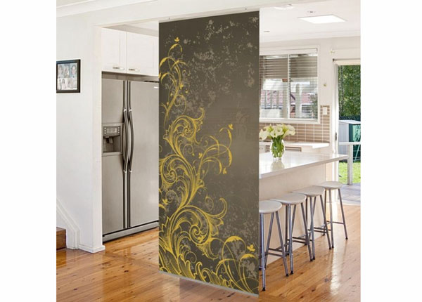 Paneeliverho FLOURISHES IN GOLD AND SILVER 250x120 cm ED-141243