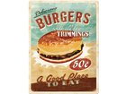 Retrotyylinen metallijuliste DELICIOUS BURGERS 30x40 cm SG-57106