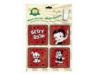 Retro lasinalusta BETTY BOOP 4 kpl SG-61642