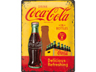 Retrotyylinen metallijuliste COCA-COLA IN BOTTLES 30x40 cm SG-73499