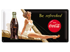 Retrotyylinen metallijuliste COCA-COAL BE REFRESHED 25x50 cm SG-73504