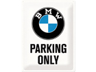 Retrotyylinen metallijuliste BMW PARKING ONLY 30x40 cm SG-74245