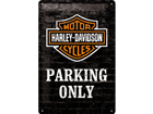 Retrotyylinen metallijuliste HARLEY-DAVISON PARKING ONLY 20x30 cm SG-74246
