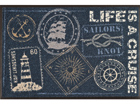 Matto LIFE IS A CRUISE 50x75 cm A5-74501
