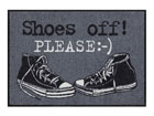 Matto SHOES OFF PLEASE 50x75 cm