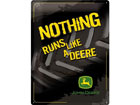 Retro metallijuliste JOHN DEERE NOTHING RUNS LIKE A DEERE 30x40 cm SG-78376