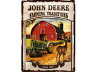Retro metallijuliste JOHN DEERE FARMING TRADITIONS 30x40 cm SG-78377