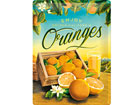 Retrotyylinen metallijuliste ORANGES 30x40 cm SG-80076