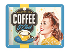 Retro metallijuliste COFFEE O´CLOCK 15x20 cm SG-84359