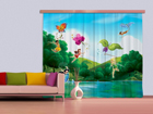 Pimentävä fotoverho DISNEY FAIRIES WITH RAINBOW 280x245 cm ED-87461