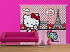Pimentävä fotoverho HELLO KITTY WITH MOUSE 280x245 cm ED-87467