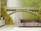Fleece kuvatapetti BRIDGE NEAR WATERFALL 360x270 cm ED-90596