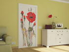 Fleece kuvatapetti WATERCOLOR POPPIES 90x202 cm ED-91121