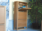 Jalkinekaappi NewEst SHOE CABINET 3 DOOR WO-92044