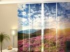 Läpinäkyvä paneeliverho FLOWERS AND MOUNTAINS 240x240 cm ED-97639
