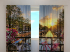 Puolipimentävä verho BEAUTIFUL SUNRISE OVER AMSTERDAM 240x220 cm ED-97924