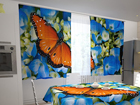 Läpinäkyvä verho BUTTERFLY ON THE BLUE 200x120 cm ED-98321