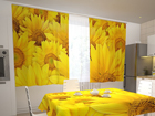 Pimennysverho SUNFLOWERS IN THE KITCHEN 200x120 cm ED-98330