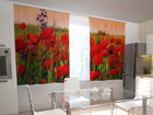 Läpinäkyvä verho WONDERFUL POPPIES 200x120 cm ED-98400
