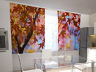 Pimennysverho MAPLE LEAVES IN THE KITCHEN 200x120 cm ED-98424