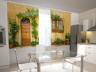 Pimennysverho THE FRONT IN FLOWERS FOR THE KITCHEN 200x120 cm ED-98450