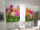Läpinäkyvä verho TULIPS IN THE KITCHEN 200x120 cm ED-98568