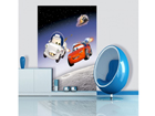 Fleece kuvatapetti DISNEY CARS IN SPACE 180x202 cm ED-99072