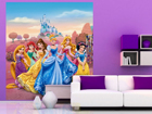 Fleece kuvatapetti DISNEY PRINCESS 180x202 cm ED-99086