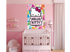 Fleece kuvatapetti HELLO KITTY 180x202 cm ED-99093