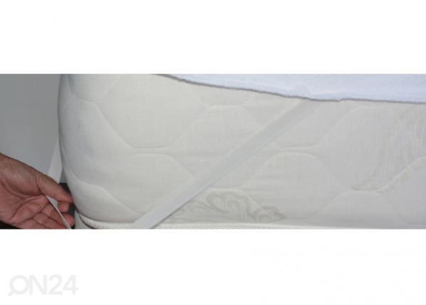 STROMA patjan suojalakana kuminauhalla 140x200 cm