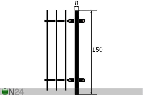 Aidan tolppa 1,5 m