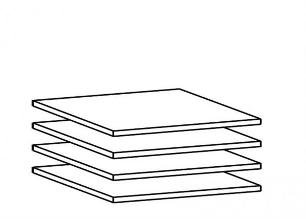 Lisähyllyt 100 cm kaappiin, 4 kpl