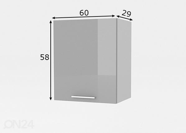 Keittiön yläkaappi FEMINA 80 cm TF 108971  ON24