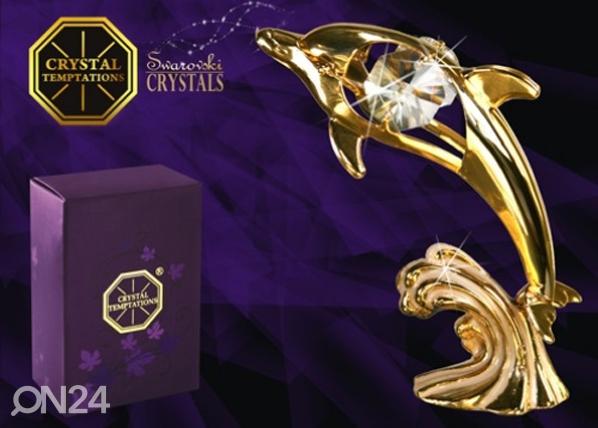 Koriste-esine Swarovski kristalleilla DELFIINI