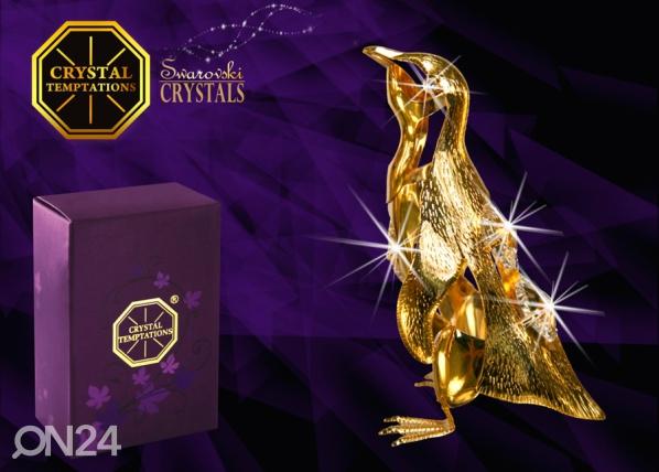 Koriste-esine dekoratiivi kristalleilla PINGVIINI
