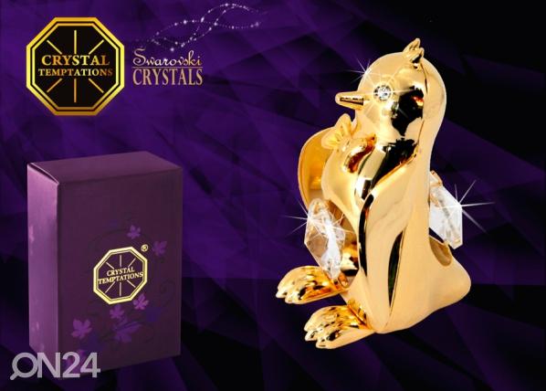 Koriste-esine kristalleilla ILOINEN PINGVIINI