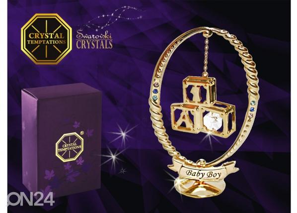 Koriste-esine SWAROVSKI kristalleilla LELUPALIKAT