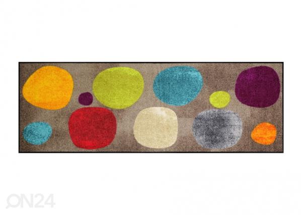 Matto BROKEN DOTS COLOURFUL 60x180 cm