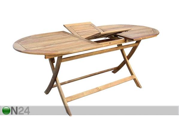 Jatkettava puutarhapöytä TOLEDO 85x140-180 cm
