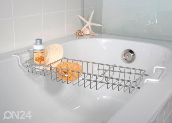 Jatkettava kylpyammehylly