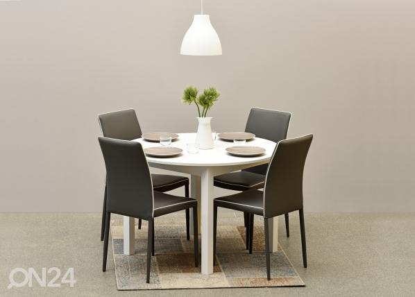 Jatkettava ruokapöytä NOVA 110-150x110 cm