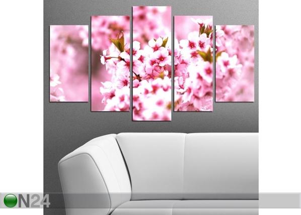 Viisiosainen seinätaulu BLOSSOM I, 100x60 cm