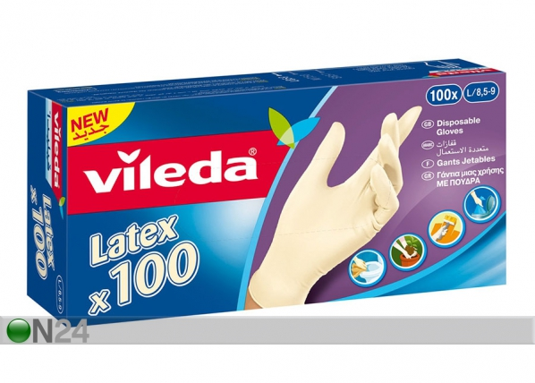 Kertakäyttökäyttökäsine VILEDA MULTI LATEX 100 kpl S