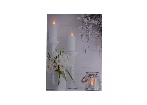 LED taulu TULIP BOUQUET 30×40 cm