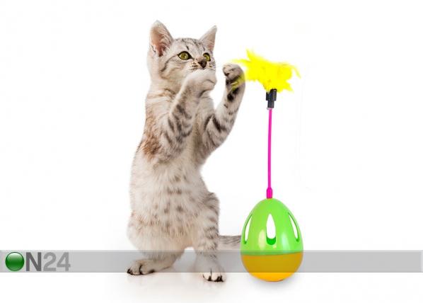 Kehittävä lelu kissoille, muna sulilla