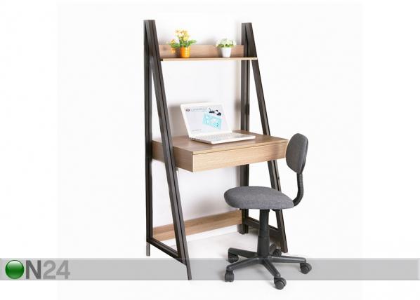 Työpöytä hyllystöllä STEP